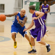 Chris Brown plays in the E League Celebrities Bridge Basketball and Charity event sponsored by Nike — Foto de Stock