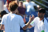 Benjamin Becker and James Blake play a match — Stock Photo