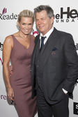 Yolanda Hadid and composer David Foster arrive to The Heart Foundation Gala at Hollywood Palladium — Stock Photo