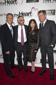 Mark Litman, P.K. Shah, Kimberly Shah and David Foster attend the Heart Foundation Gala at The Hollywood Palladium — Stock Photo