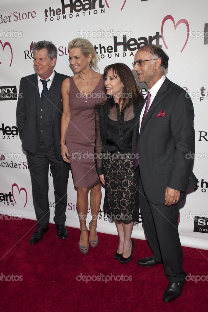 Composer David Foster, Yolanda Hadid, Kimberly Shah and Dr. P.K. Shah ...