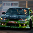 Foto de Stock  : Daijiro Yoshiharcompetes at ToyotSpeedway during FormulDrift round