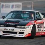 Daijiro Yoshihara competes at Toyota Speedway during Formula Drift round — Stock Photo #14585537