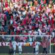 Stock Photo: Chivas fans cheer on Chivas during MLS conference semifinal match
