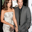Kate Beckinsale and Len Wiseman attend the film premier — Stock Photo