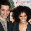 James Frain and guest attend the film premier — Stock Photo