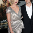 Stock Photo: Charlize Theron and Stuart Townsend attend film premier