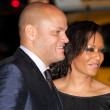 Stephen Belafonte and Melanie Brown attend the AFI Fest screening of Bad Lieutenant — Stock Photo