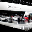 Audi display booth at Auto Show — Foto Stock