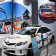 ToyotCamry Hybrid on display at Auto Show — Foto Stock #14588033