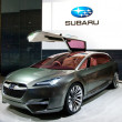 Subaru Hybrid Tourer on display at the Auto Show - Stock Photo