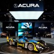 Acurpowered AmericLe Mans race car on display at Auto Show — Foto Stock #14588513