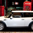 Mini Cooper on display at Auto Show — Stock Photo #14588565