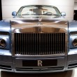 Rolls Royce Phantom Drophead Coupe on display at the Auto Show - Stock Photo