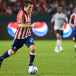Bojan Stepanovic dribbling the ball up field during the match — Stock Photo #14589037