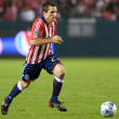 Bojan Stepanovic dribbling the ball up field during the match — Stock Photo #14589039