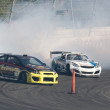 Tanner Foust and Darren McNamara compete at Toyota Speedway during Formula Drift round — Stock Photo