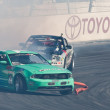 Vaughn Gittin Jr. competes at Toyota Speedway during Formula Drift round — 图库照片