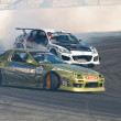 Kyle Mohan and Michael Essa compete at Toyota Speedway during Formula Drift round — Stock Photo