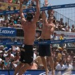 ������, ������: Phil Dalhausser and Todd Rogers vs John Hyden and Sean Scott take part in volleyball match