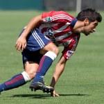 Paulo Nagamura during the match — Stock Photo #14589943