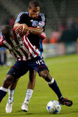 Ryan Johnson in action during the Chivas USA vs. San Jose Earthquakes match — Stock Photo