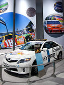 Toyota Camry Hybrid on display at Auto Show — Stock Photo