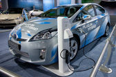 Toyota Prius Plug-In Hybrid on display at Auto Show — Stock Photo