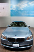 BMW 750Li Active Hybrid on display at Auto Show — Stock Photo