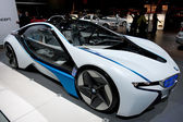 BMW Vision Efficient Dynamics Concept on display at Auto Show — Stok fotoğraf