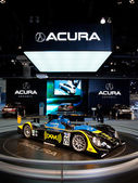 Acura powered American Le Mans race car on display at the Auto Show — Stock Photo