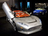 Spyker C8 Aileron Spyder on display at the Auto Show — Stock Photo