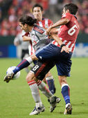 Ante Jazic and Pablo Vitti fight for the ball during the match — Stock Photo