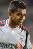 Amado Guevara before a corner kick during the match — Stock Photo
