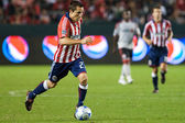 Bojan Stepanovic dribbling the ball up field during the match — Stock Photo