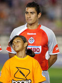 Patricio Araujo during the pre game lineup of the the game — Stock Photo