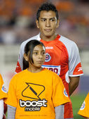 Omar Esparza during the pre game lineup of the match — Stock Photo