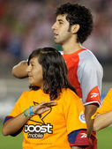 Edgar Mejia during the pre game lineup of the match — Stock Photo