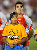 Marco Fabian during the pre game lineup of the the match — Stock Photo
