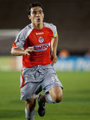 Omar Bravo in action during the match — Stock Photo