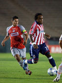 Chijindu Chukwudi and Patricio Araujo in action during the match — Stock Photo