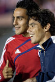 Jesus Padilla and Omar Bravo after the the match — Stock Photo