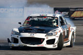 Kyle Mohan competes at Toyota Speedway during Formula Drift round — Stock Photo