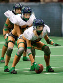 Seattle Mist offense during the match — Stock Photo