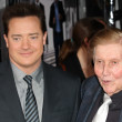 Stock Photo: BrendFraser and Sumner Redstone attend Extraordinary Measures premiere