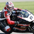 Stock Photo: Steve Rapp waits by his Ducati 848 during race