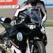 Chris Peris  tries to get his BMW S1000RR  during the race — Stock Photo