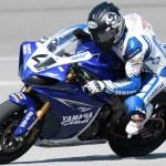 Josh Hayes on a Yamaha YZF-R1 — Stock Photo
