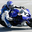 clinton seller rides his yamaha yzf-r6 — Stock Photo