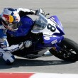 Josh Herrin rides his Yamaha YZF-R6 — Stock Photo